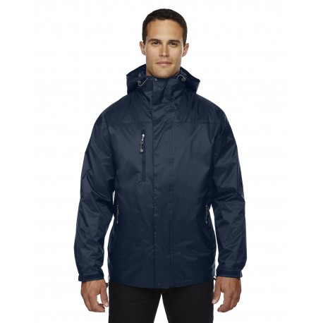 88120 North End 88120 Adult Performance 3-in-1 Seam-Sealed Hooded Jacket MIDN NAVY 711