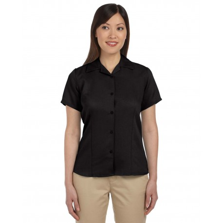 M570W Harriton M570W Ladies' Bahama Cord Camp Shirt BLACK