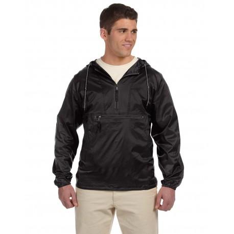 M750 Harriton M750 Adult Packable Nylon Jacket BLACK