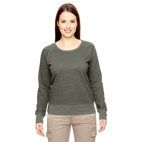EC4505 Econscious EC4505 Ladies' 7 oz. Organic/Recycled Heathered Fleece Raglan Pullover MILITARY GREEN