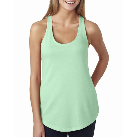 6933 Next Level 6933 Ladies' French Terry Racerback Tank MINT