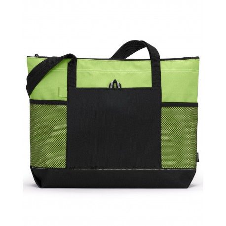 1100 Gemline 1100 Select Zippered Tote APPLE GREEN