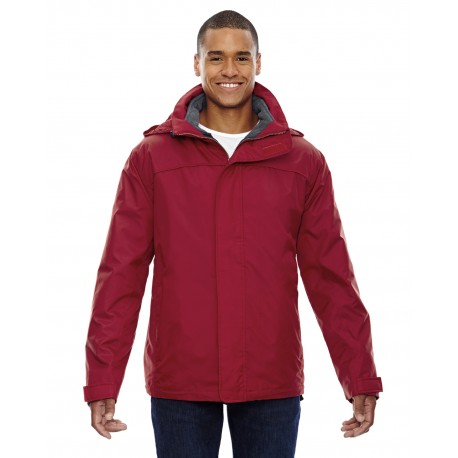 88130 North End 88130 Adult 3-in-1 Jacket MOLTEN RED 751