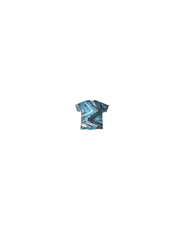 CD100 Tie-Dye MRBLE BLUE TIGER