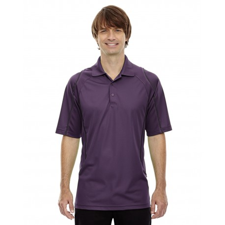 85107 Extreme 85107 Men's Eperformance Velocity Snag Protection Colorblock Polo with Piping MULBRY PURPL 449