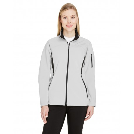 78034 North End 78034 Ladies' Three-Layer Fleece Bonded Performance Soft Shell Jacket NATRL STONE 820