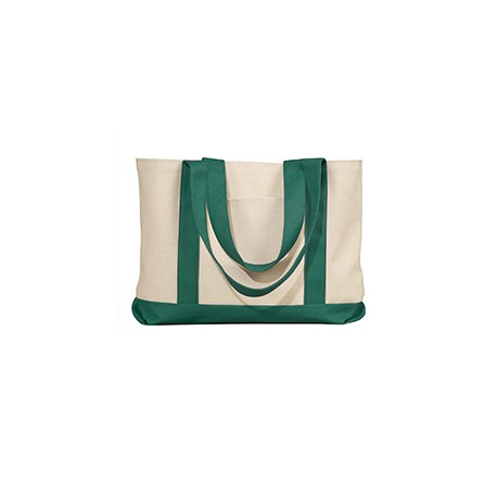 8869 Liberty Bags 8869 Leeward Canvas Tote NATURAL/FOREST