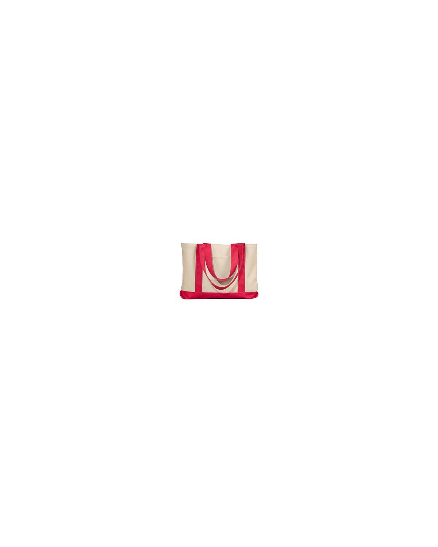 8869 Liberty Bags NATURAL/RED