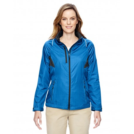 78200 North End 78200 Ladies' Sustain Lightweight Recycled Polyester Dobby Jacket with Print NAUTICL BLUE 413