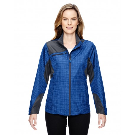 78805 North End 78805 Ladies' Sprint Interactive Printed Lightweight Jacket NAUTICL BLUE 413