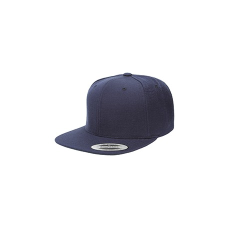 6089 Yupoong 6089 Adult 6-Panel Structured Flat Visor Classic Snapback NAVY