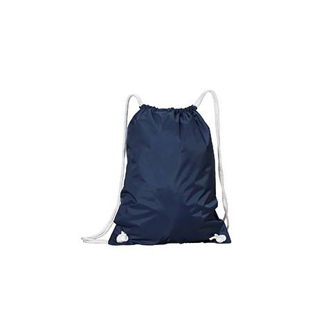 8887 Liberty Bags 8887 White Drawstring Backpack NAVY
