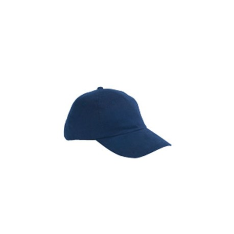 BX008 Big Accessories BX008 5-Panel Brushed Twill Unstructured Cap NAVY