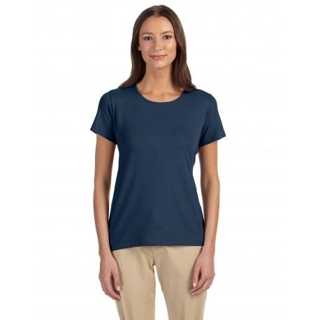 DP182W Devon & Jones DP182W Ladies' Perfect Fit Shell T-Shirt NAVY
