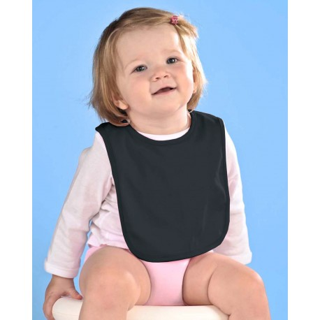 RS1005 Rabbit Skins RS1005 Infant Premium Jersey Bib BLACK