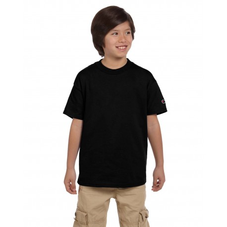 T435 Champion T435 Youth 6.1 oz. Short-Sleeve T-Shirt BLACK