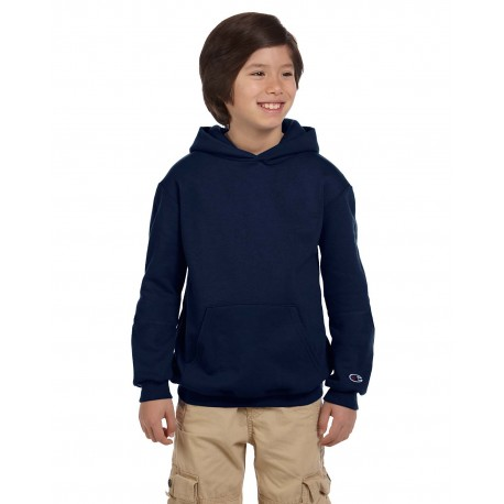 S790 Champion S790 Youth 9 oz. Double Dry Eco Pullover Hood NAVY