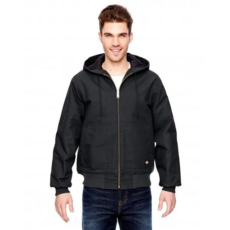 TJ718 Dickies TJ718 Men's 10 oz. Hooded Duck Jacket BLACK
