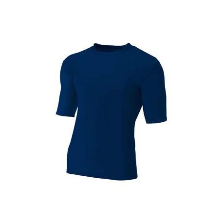 N3283 A4 N3283 Men's 7 vs 7 Compression T-Shirt NAVY