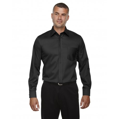 DG530T Devon & Jones DG530T Men's Tall Crown Woven Collection Solid Stretch Twill BLACK