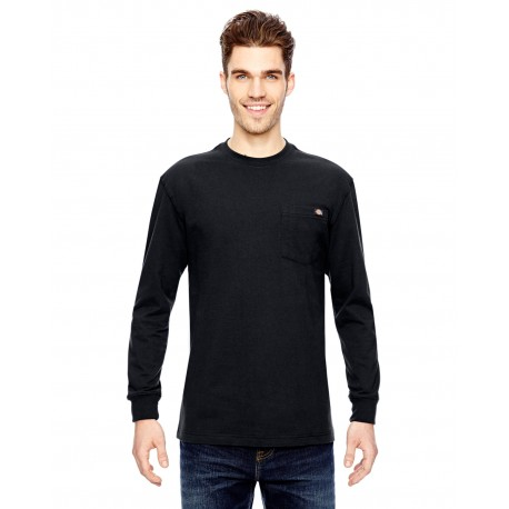 WL450 Dickies WL450 Men's 6.75 oz. Heavyweight Work Long-Sleeve T-Shirt BLACK