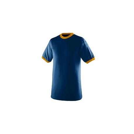 710 Augusta Sportswear 710 Adult Ringer T-Shirt NAVY/GOLD