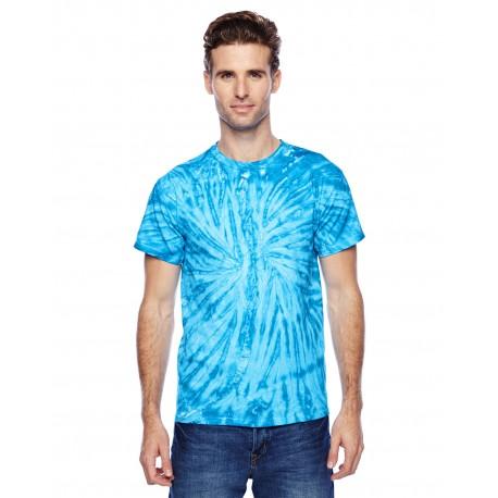 CD110 Tie-Dye CD110 Adult 5.4 oz., 100% Cotton Twist Tie-Dyed T-Shirt NEON BLUEBERRY