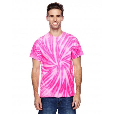 CD110 Tie-Dye CD110 Adult 5.4 oz., 100% Cotton Twist Tie-Dyed T-Shirt NEON BUBBLEGUM