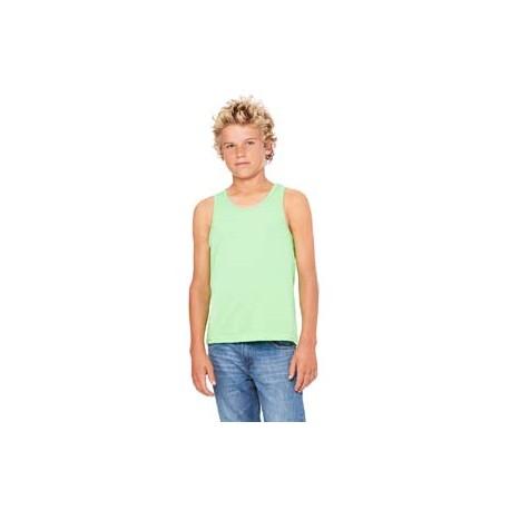 3480Y Bella + Canvas 3480Y Youth Jersey Tank NEON GREEN