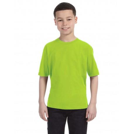 990B Anvil 990B Youth Lightweight T-Shirt NEON GREEN