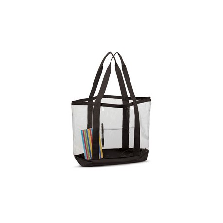 7009 Liberty Bags 7009 Large Clear Tote BLACK