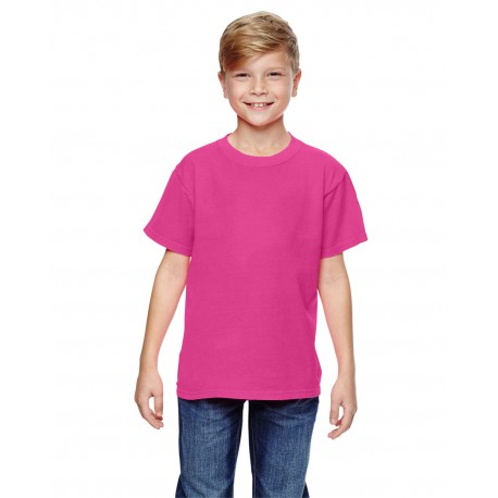 C9018 Comfort Colors C9018 Youth Midweight RS T-Shirt NEON PINK
