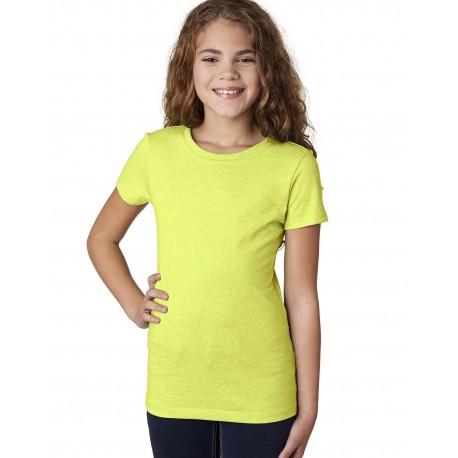 3712 Next Level 3712 Youth Princess CVC T-Shirt NEON YELLOW