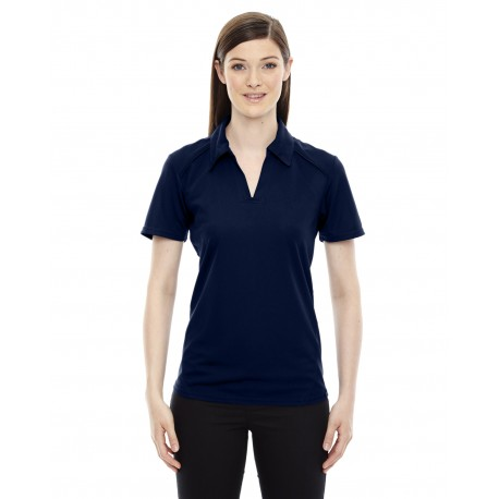 78632 North End 78632 Ladies' Recycled Polyester Performance Pique Polo NIGHT 846