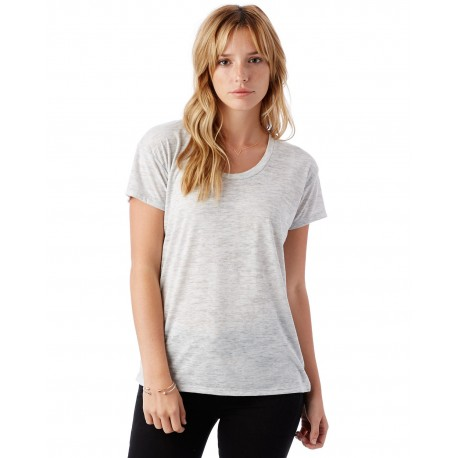 AA2620 Alternative AA2620 Ladies' Kimber Melange Burnout T-Shirt OATMEAL HEATHER