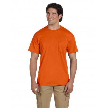 G830 Gildan G830 Adult 5.5 oz., 50/50 Pocket T-Shirt ORANGE