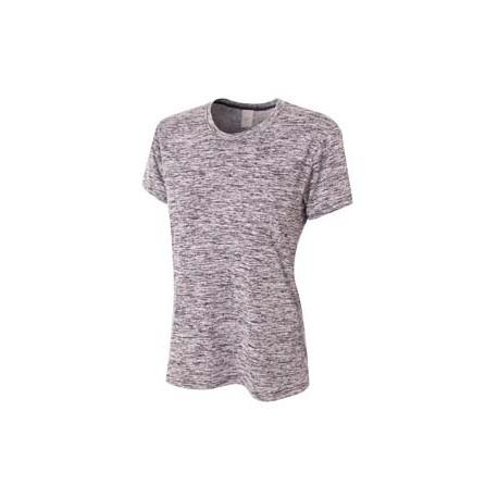 NW3296 A4 NW3296 Ladies' Space Dye Tech T-Shirt BLACK