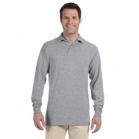 437ML Jerzees 437ML Adult 5.6 oz. SpotShield Long-Sleeve Jersey Polo OXFORD