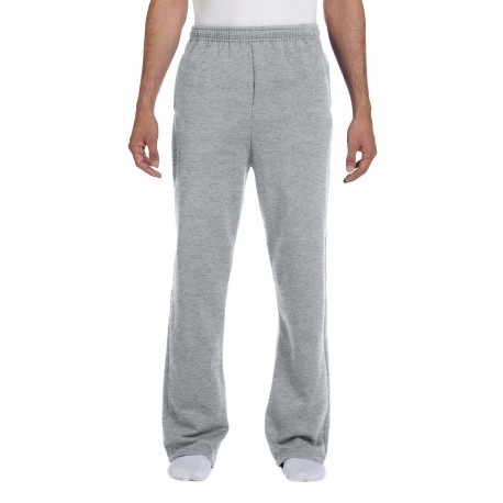 974MP Jerzees 974MP Adult 8 oz. NuBlend Open-Bottom Fleece Sweatpants OXFORD
