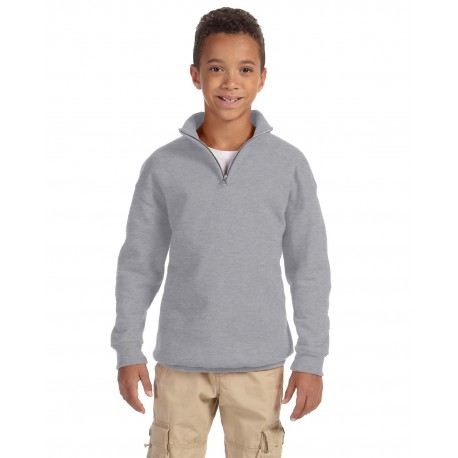 995Y Jerzees 995Y Youth 8 oz. NuBlend Quarter-Zip Cadet Collar Sweatshirt OXFORD