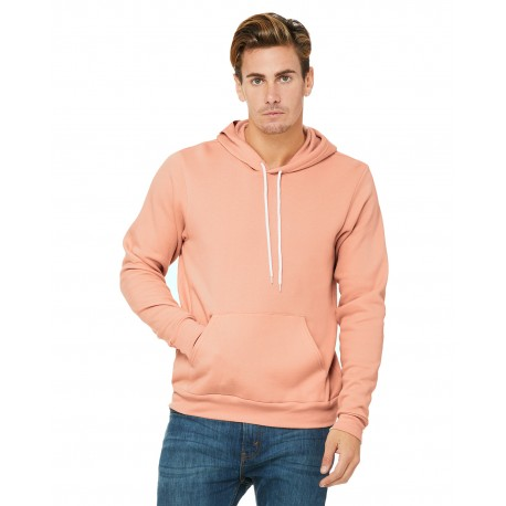 3719 Bella + Canvas 3719 Unisex Poly-Cotton Fleece Pullover Hoodie PEACH