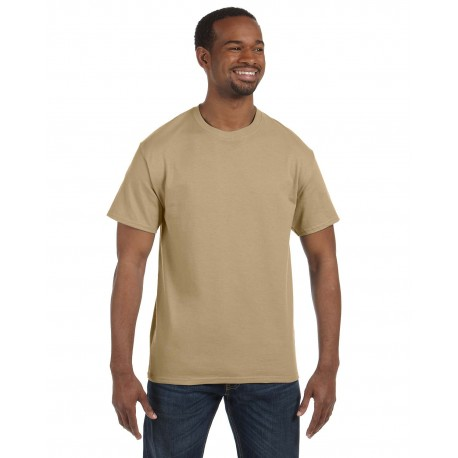 5250T Hanes 5250T Men's 6.1 oz. Tagless T-Shirt PEBBLE