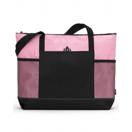 1100 Gemline 1100 Select Zippered Tote PEONY PINK