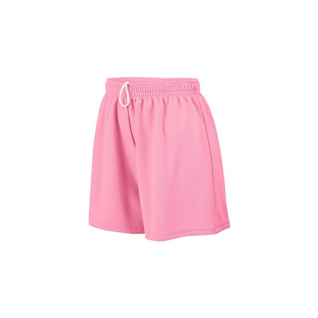 AG960 Augusta Sportswear AG960 Ladies' Wicking Mesh Short PINK