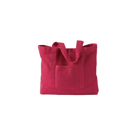1904 Authentic Pigment 1904 14 oz. Pigment-Dyed Large Canvas Tote POPPY