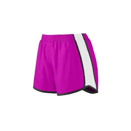 1266 Augusta Sportswear 1266 Girls' Pulse Team Short POW PNK/WH/BLK
