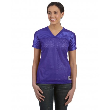 250 Augusta Sportswear 250 Ladies' Junior Fit Replica Football T-Shirt PURPLE