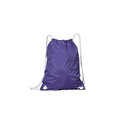 8887 Liberty Bags 8887 White Drawstring Backpack PURPLE