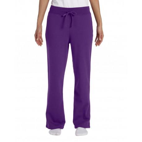 G184FL Gildan G184FL Ladies' Heavy Blend Ladies 8 oz., 50/50 Open-Bottom Sweatpants PURPLE
