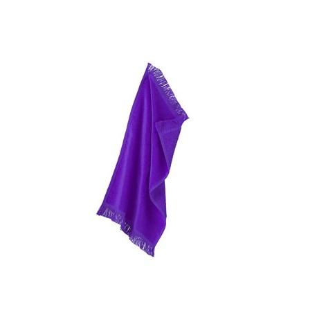 T101 Towels Plus T101 Fringed Spirit Towel PURPLE